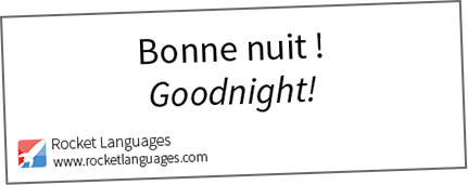 Goodnight in French