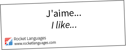 how to say i like to dance in french