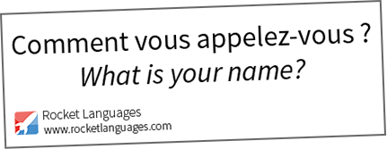 What is your name in French
