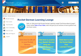 Rocket German Learning Lounge Screen Shot